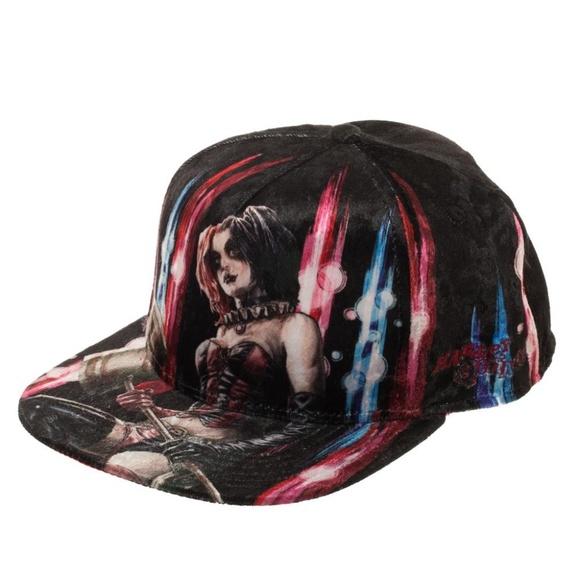 Harley Quinn DC Comics Snapback Hat Velvet Batman b9b00866af8d